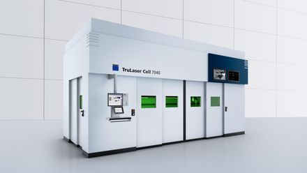 Product images of the TruLaser Cell 7040 fiber from TRUMPF