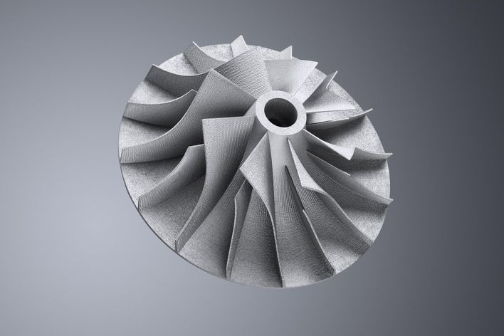 Radial turbine blower built with TruPrint 3000 (LMF)