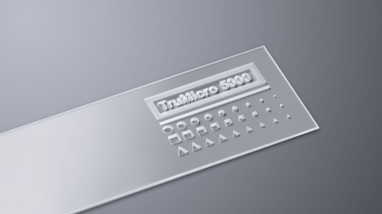 利用 TruMicro 5000 系列皮秒激光器切割的蓝宝石试样